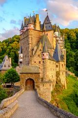 Burg Eltz castle in Rhineland-Palatinate at sunset © haveseen