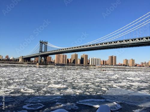 Foto op Aluminium New York Manhattan bridge from brooklyn