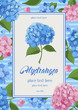 Hydrangea card - 166802391