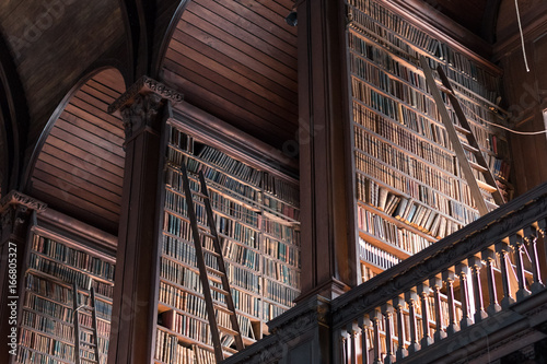 Old library with many books