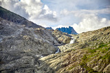 Beautiful Mountain Waterfall, Swiss Alps