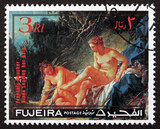 Postage stamp Fujeira 1971 Diana Leaving her Bath, by Boucher - 166812163