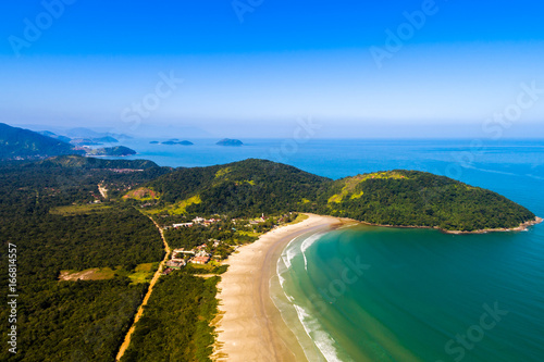 Aerial View of Sao Sebastiao Beaches in Sao Paulo, Brazil