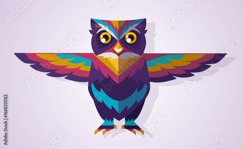 cool colorful cute owl