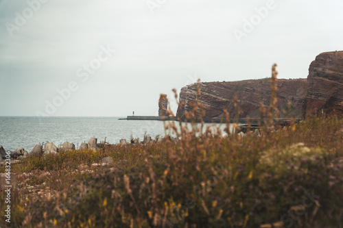 Foto op Canvas Wit Helgoland Panorama