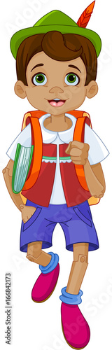 Plexiglas Meisjeskamer Pinocchio Going to School