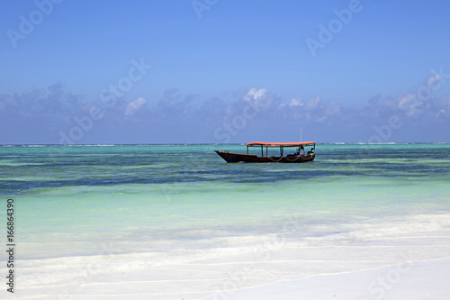 Old fishing boat taken from the beach of Zanzibar, east Africa