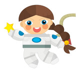 Cartoon character - astronaut isolated - illustration for children - 166871112
