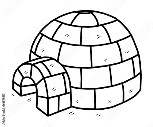 ice house cartoon vector and illustration black and white hand Cartoon Crooked House ice house cartoon vector and illustration black and white hand drawn sketch