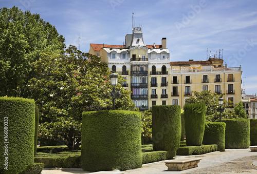 Plaza de Oriente in Madrid. Spain