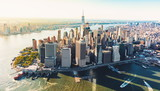 Aerial view of lower Manhattan NYC - 166885999