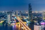Topview of Chaopraya River , Bangkok, Thailand