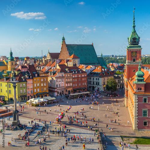 Zdjęcia na płótnie, fototapety na wymiar, obrazy na ścianę : Warsaw, Castle square, Capital of Poland