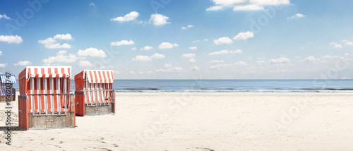 Plexiglas Noordzee Strandkorb an der Ostsee