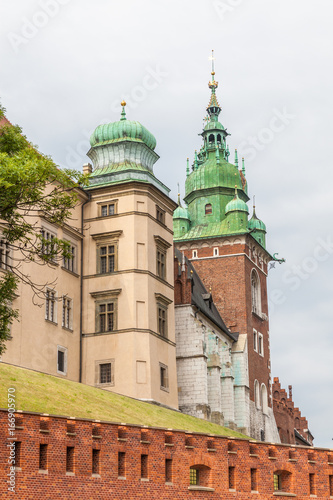 Part of fortification complex of Wawel in Krakow