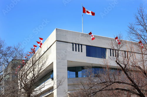 Canada Flags Embassy Pennsylvania Ave Washington DC