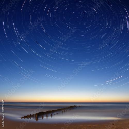 startrails / nad Bałtykiem