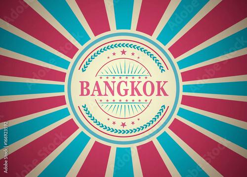 Bangkok Retro Vintage Style Stamp Background