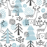 Christmass seamless vector pattern - 166944370