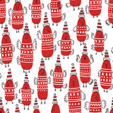 Christmas seamless vector pattern - 166944386
