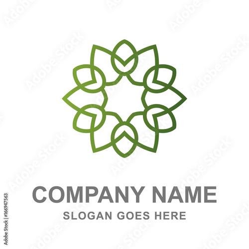 Mandala Floral Pattern Logo  - 166947563
