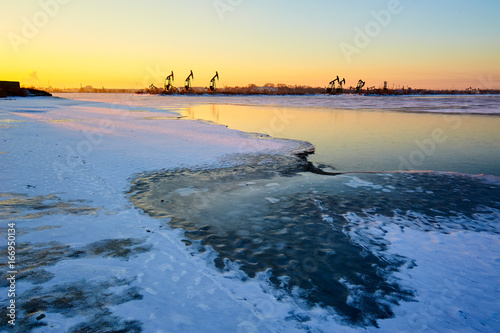The ice lake sunrise.