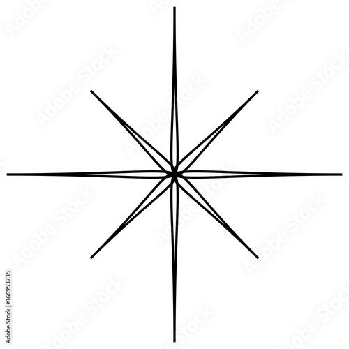 Geometric abstract mandala, spirally geometric shape, object - 166953735