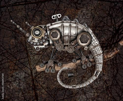 Steampunk style lizard