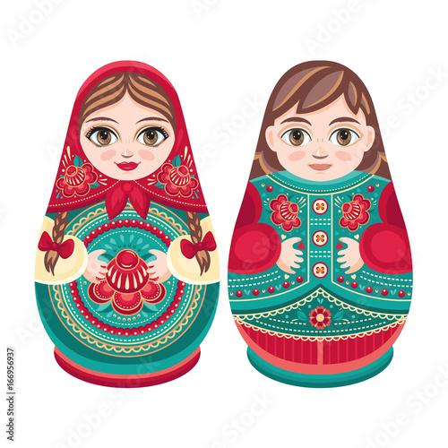 Matryoshka. Babushka doll. Set