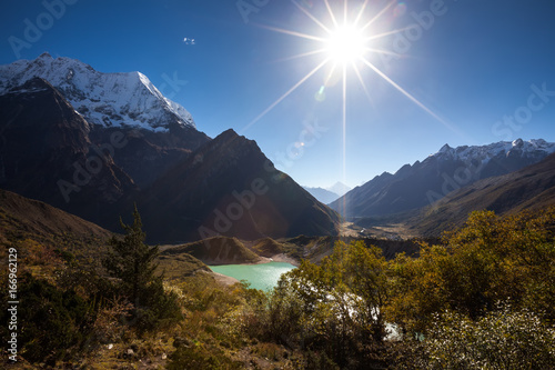 Beautiful landscape of Himalaya mountains on Manaslu circuit