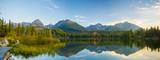 sunrise over the mountain lake in the Tatra Mountains in Slovakia