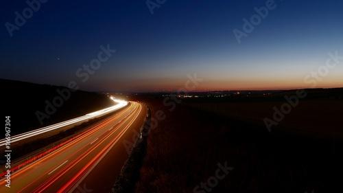 Foto op Aluminium Nacht snelweg Sunset [Sonneuntergang]