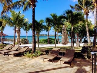 Beach in the Balaclava area of northern Mauritius