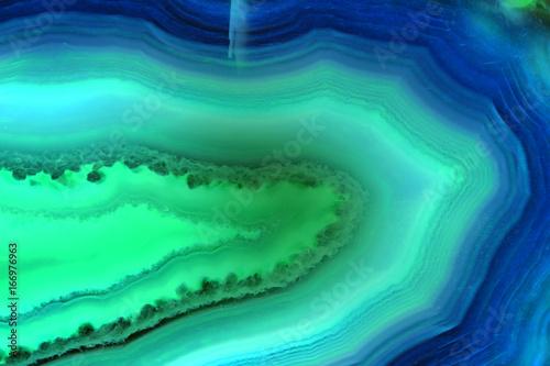 Streszczenie tło, niebieski i zielony agat plasterek mineralnych