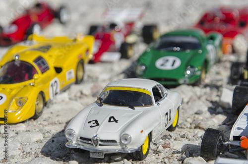 Plexiglas F1 Beautiful race cars at the sun