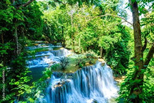 waterfall kanchanaburi thailand - 166984163