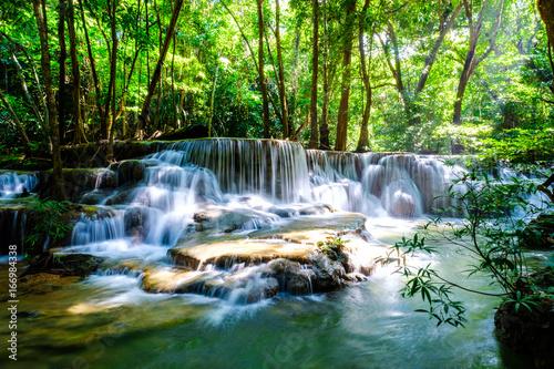 waterfall kanchanaburi thailand - 166984338