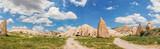 Panoramic image of rocky landscape in Cappadocia, Turkey. - 166993941