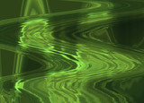 abstract background with big waving shapes in green tones