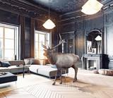 deer in the room. photo combination - 167033516