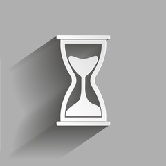 Vector icon image  hourglass. Vector illustration with shadow design