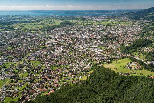 Blick vom Karren auf Dornbirn und Bodensee (High Resolution)
