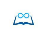 Infinity Book Icon Logo Design Element - 167052351