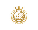 King Golf Icon Logo Design Element - 167054559