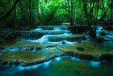 hauy mae kamin waterfalls in kanchaburi thailand