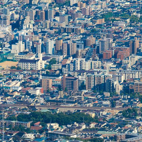 Foto op Plexiglas Nachtblauw 都市風景 展望