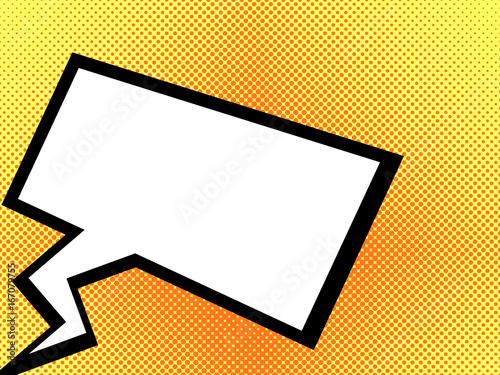 Pop art dialogue bubble. Dialog box. Vector illustration.