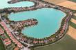 See wohnen Wasser Häuser Gebäude exklusiv Freizeit Luftbild