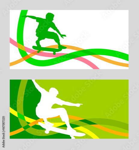 Foto op Aluminium Skateboard Skateboard - 52 - Flyer