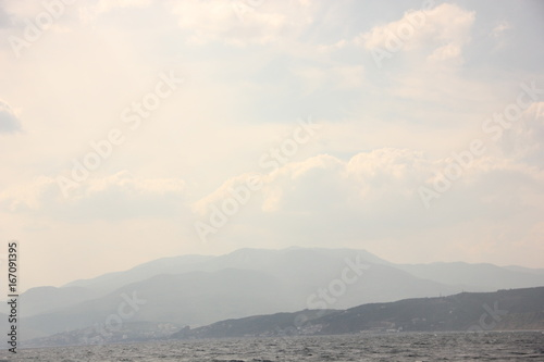 Landscape of mountains and sky in the Crimea - 167091395